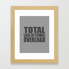 Boredom Framed Art Print