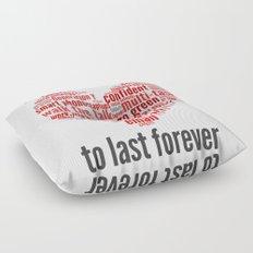 millennials seek love to last forever Floor Pillow