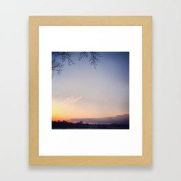 Sunset at Home Framed Art Print