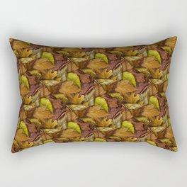 Painted Autumn Leaves Rectangular Pillow