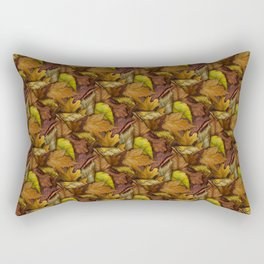 Painted Autumn Leaves Rectangular Pillow