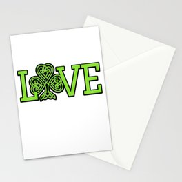 Love Irish Shamrock Celtic Knot Gifts Stationery Cards