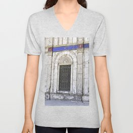 Sultan Ali Mosque in Cairo Unisex V-Neck