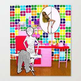 Barbie Dreams Of A More Colourful Life! Canvas Print