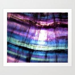 Rainbow Fluorite Art Print