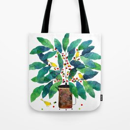 coffee birds 001 Tote Bag