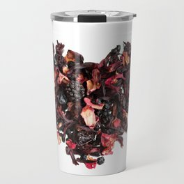 petals tea formed in heart shape Travel Mug