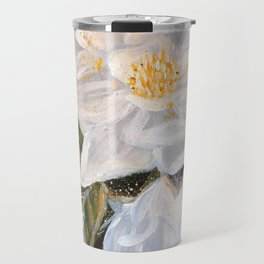 WHITE MAGNOLIA-Original floral Art by HSIN LIN / H.Lin the Artist /Helloinnerpeace Travel Mug