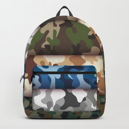 Set camo Cammo military pattern Backpack