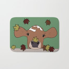 Bessie the Calf and Fall Leaves Bath Mat