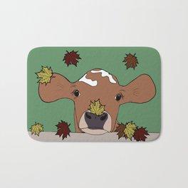 Bessie the Calf and Fall Leaves Bath Mat