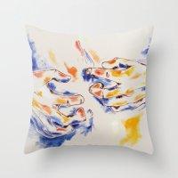 body Throw Pillows featuring Body by Peter Dannenbaum