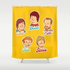 Alan & Dennis & Brian & Mike & Carl Shower Curtain