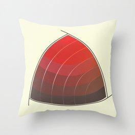 Le Rouge-Orangé (ses diverses nuances combinées avec le noir) Vintage Remake, no text Throw Pillow
