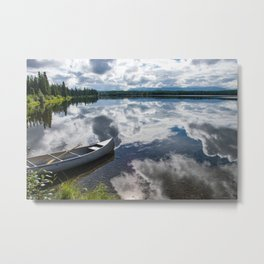 Tranquility At Its Best - Alaska Metal Print