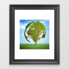Globe Tree Framed Art Print