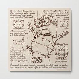 Minion Plan Metal Print
