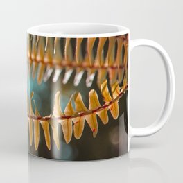 Autumn Ferns in Orange and Blue Coffee Mug