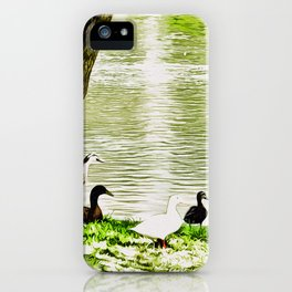 Duck Pond in Watercolour iPhone Case