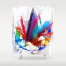 Dancing Peacock  Shower Curtain
