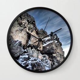Glacial Rocks Wall Clock