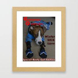 Snow Dawg Bootie Call Framed Art Print