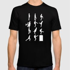 The TARDIS of Silly Walks Mens Fitted Tee LARGE Black