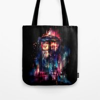 space Tote Bags featuring All of Time and Space by Alice X. Zhang