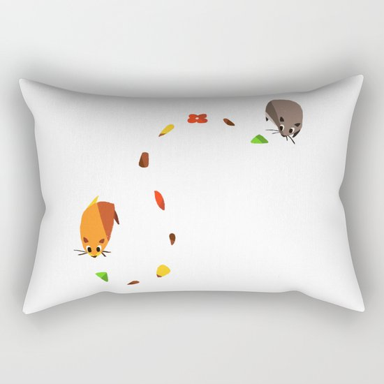 Hammy food trail Rectangular Pillow