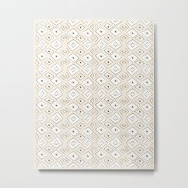 Broken Triangles in Cream Metal Print