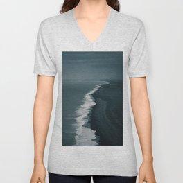 Black Sand Beach in Iceland Unisex V-Neck
