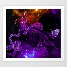 Dipping into the Cosmic Stream Art Print