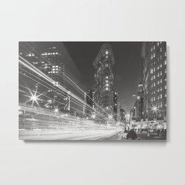 Flatiron at Night - NYC Photography Metal Print