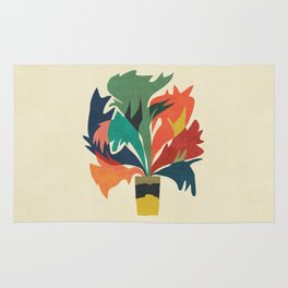 Potted staghorn fern plant Rug