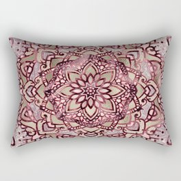 Burgundy plum mandala Rectangular Pillow