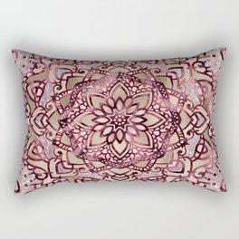 Burgundy plum mandala Rectangular Pillow