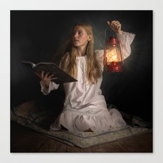Reading After Bedtime Canvas Print