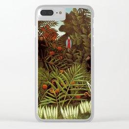 """Henri Rousseau """"Exotic landscape"""", 1908 Clear iPhone Case"""