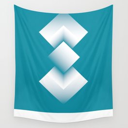 blue energy tower Wall Tapestry