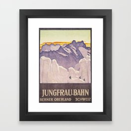 Jungfrau Mountains Framed Art Print