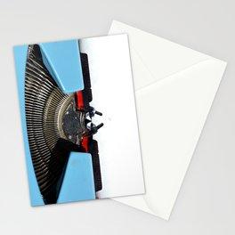 Vintage Blue Typewriter Stationery Cards