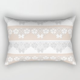 Peach-colored lace . Rectangular Pillow