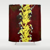 flash Shower Curtains featuring Flash by Red Gauntlet