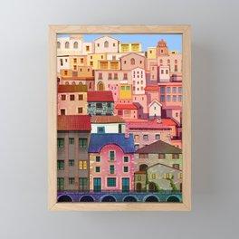 a city Framed Mini Art Print