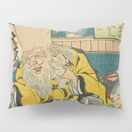 A long head Japanese person Ukiyo-e Pillow Sham