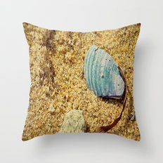 Sand and Shell Throw Pillow