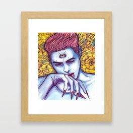 boi blu Framed Art Print