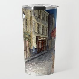 Postcards from Paris - Montmartre by Night: Le Tire-Bouchon Creperie Travel Mug