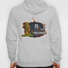 R and J logo white Hoody
