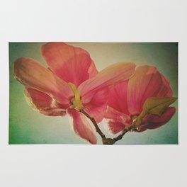 Vintage Spring Flowers Rug